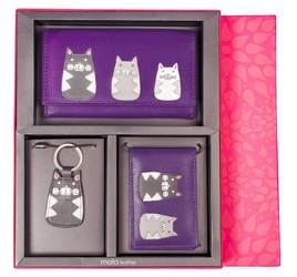 Max Cat Leather 3 Piece Gift Set