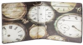 Bromley Printed Wallet with Clocks RFID