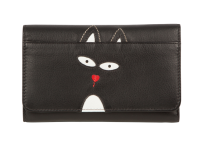 3283 82 Teddy Face Flap Over Purse with RFID