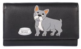 Beau & His Bowl Flap Over Purse with RFID
