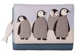 Ollie Penguin Leather Tri Fold Purse