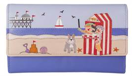 Beau's Punch and Judy Show  Leather Dog  Tri Fold Purse