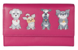 Best Friends Grey Dogs Flap Over Purse