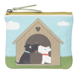 Pinky Dogs in Love Coin Purse