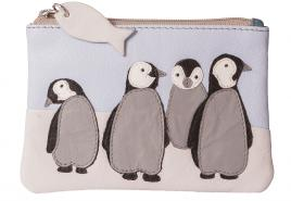 Ollie Penguin Leather Coin  & Card Purse