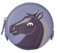 Pinky Black Horse Round Coin Purse