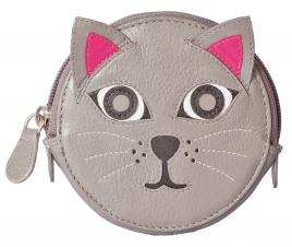 Pinky Cat Round Coin Purse