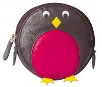 Pinky Robin Round Coin Purse