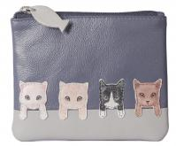 4166 65 BF Cats on Wall Coin Purse