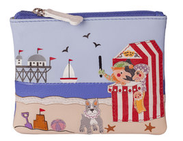 Beau's Punch and Judy Show Leather Dog Coin Purse