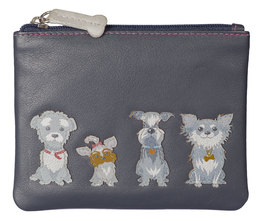 Best Friends Grey Dogs Coin Purse