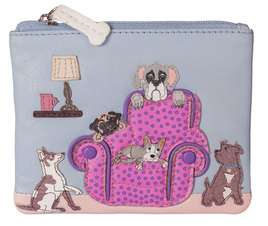 Beaus Best Seat in the House Leather Dog  Coin Purse