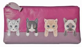 BF Cats on Wall Flap Glass/Pencil Case