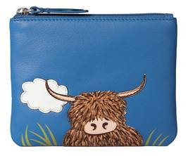 Bella Highland Cow Coin Purse - RFID