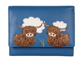 Bella Highland Cow Compact Purse - RFID