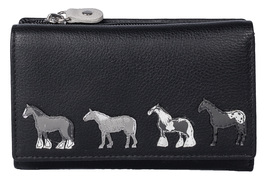 Best Friends Horses Tri Fold Purse - RFID