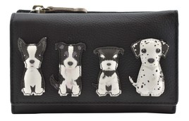 Best Friends Sitting Dogs Tri Fold Purse - RFID