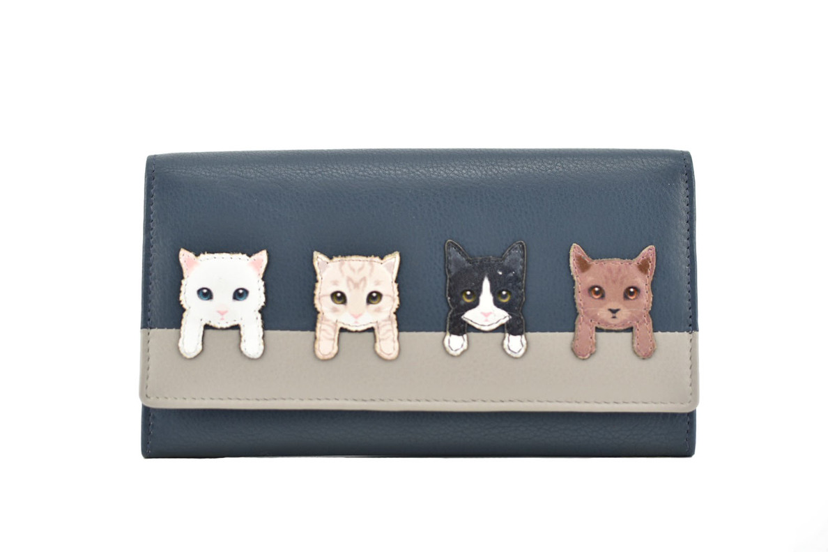 925cb0df7ed BF Cats on Wall Flap Over Purse