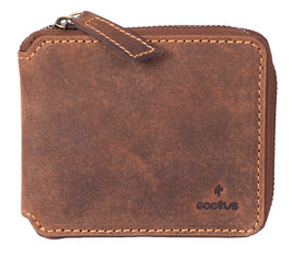 Cactus Leather Zip Around Wallet RFID