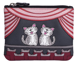 Cats The Meowsical Leather Coin & Card Purse
