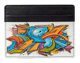Kalmin Printed Card Holder Graffiti -  RFID