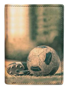 Kalmin Printed Compact Wallet Football -  RFID