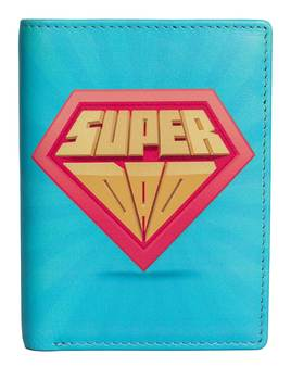 Kalmin Printed Compact Wallet Super Dad -  RFID