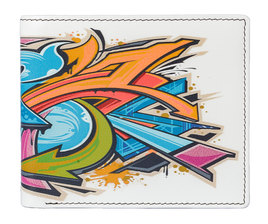 Kalmin Printed Wallet Graffiti - RFID