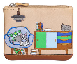 Lounging Beau Leather Dog Coin Purse