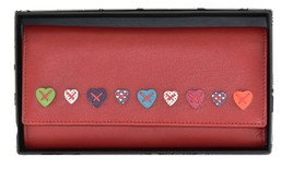 Lucy Red Tri Fold Purse
