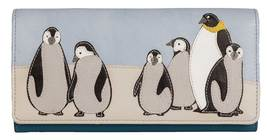 Ollie Penguin Mum & Babies Leather Purse