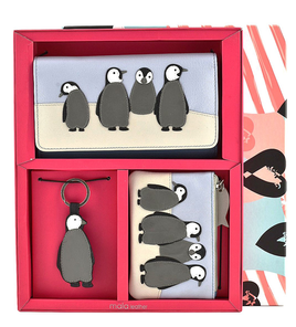 Ollie Penguin Leather 3 Piece Gift Set