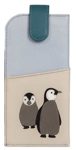 Ollie Penguin Leather Glasses Case