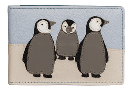 Ollie Penguin Leather ID , Travel Card , Oyster Card Holder