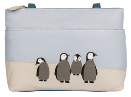 Ollie Penguin Leather Shoulder Bag