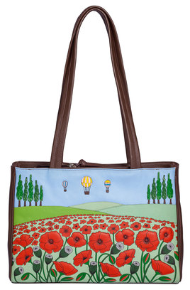 The Poppy Fields Leather Shoulder Bag
