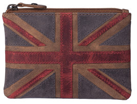 Union Jack Coin Purse Brown RFID