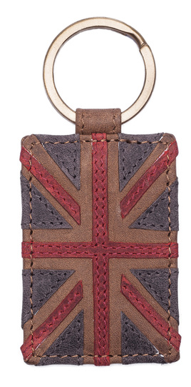 Union Jack Collection Keyring Brown