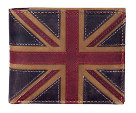 Union Jack Basic Wallet Brown - RFID