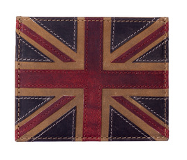 Union Jack Card Holder Brown - RFID