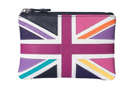 Union Jack Coin Purse Bright Multi - RFID