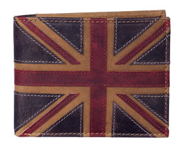 Union Jack Coin Wallet Brown - RFID