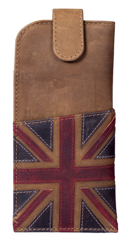 Union Jack Glasses Case Brown