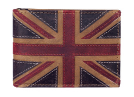 Union Jack ID / Card Holder Brown - RFID