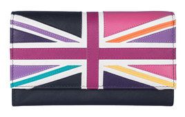 Union Jack Matinee Purse Bright Multi - RFID