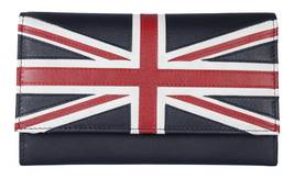 Union Jack Matinee Purse Navy - RFID