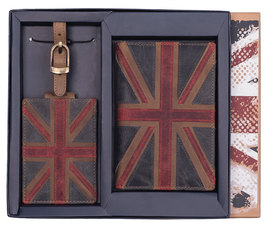 Union Jack Passport and Tag Set