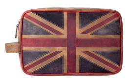 Union Jack Washbag Brown